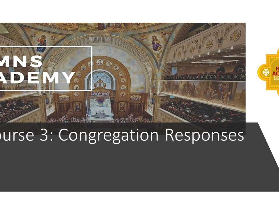 Congregation Responses: Children & Youth Course 3